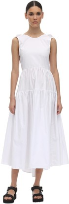 Cecilie Bahnsen Open Back Cotton Poplin Midi Dress