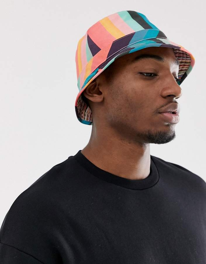 dbc47e71b artist stripe bucket hat