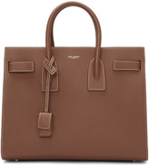 Saint Laurent Brown Small Sac de Jour Tote