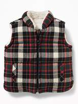 Old Navy Frost-Free Sherpa-Lined Flannel Vest for Baby
