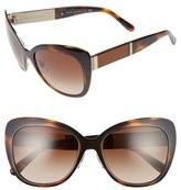 Burberry Women's 57Mm Cat Eye Sunglasses - Dark Brown