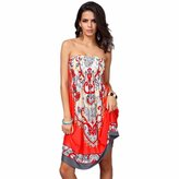 Kinghard® Kinghard Sexy Women Printing Beach Wear Summer Swimsuit Cover Up Dress (M, )