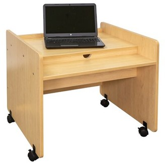 TotMate Mobile Desk Laptop Training Table TotMate Finish: Smooth, Assembly: Yes