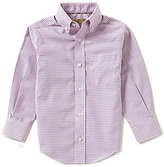 Class Club Gold Label Little Boys 2T-7 Checked Dress Shirt