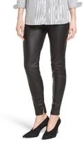 Petite Women's Halogen Faux Leather Leggings