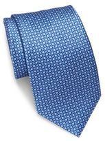 Brioni Dot-Print Silk Tie