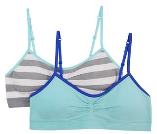Fruit of the Loom Girls Bras, 2 Pack Seamless Bra with Removable Pads (Little Girls & Big Girls)