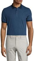 J. Lindeberg Regis Lux Stripe Slim Fit Jersey Polo