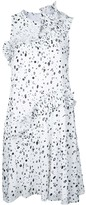 Carven Dots Print Sleeveless Dress