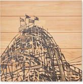 Madison Park Vintage Roller Coaster Wall Art Printed On Wood