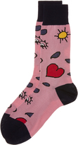 Vivienne Westwood Pink Heart and Eye Socks One Size