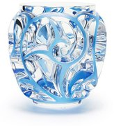 Lalique Tourbillions Small Blue/Clear Vase