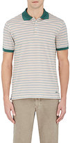 Luciano Barbera MEN'S STRIPED COTTON PIQUÉ POLO SHIRT