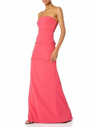 Nicole Miller Women's Nicole Miller's Felicity Techy Crepe Strapless Gown Dress