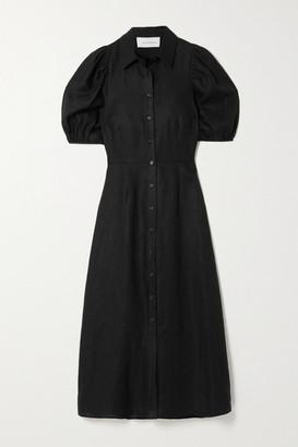 Les Rêveries Linen Shirt Dress