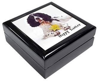 'Happy Easter' Springer Spaniel Keepsake/Jewellery Box Christmas Gift