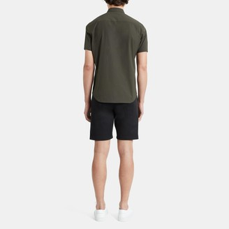 Theory Short-Sleeve Shirt in Stretch Cotton