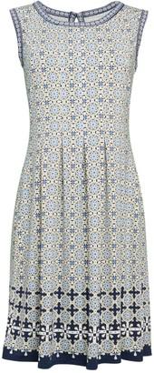 Max Studio Printed Fit-&-Flare Dress