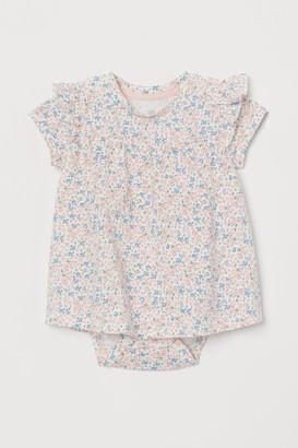 H&M Flounce-trimmed cotton dress