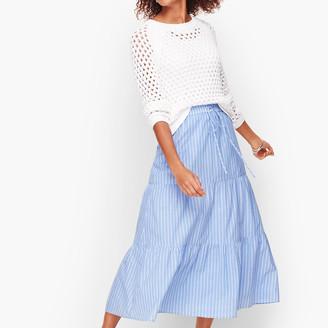Talbots Tiered Maxi Skirt - Stripe