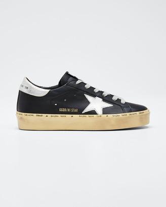 Golden Goose Hi Star Leather Low-Top Sneakers