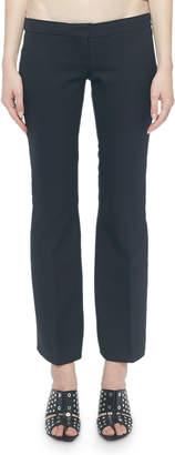 Alexander McQueen Flat Front Lace-Up Kickback Pants