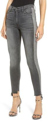 Hudson Jeans Barbara High Waist Tuxedo Stripe Ankle Skinny Jeans