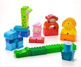 Haba Zippity Zoo Colorful Wooden Animal Blocks Set