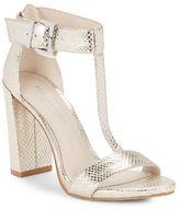 Kenneth Cole New York Daisy Metallic T-Strap Sandals