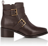Barneys New York WOMEN'S DOUBLE-BUCKLE ANKLE BOOTS