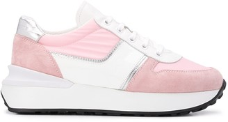 Car Shoe Panelled Low Top Sneakers