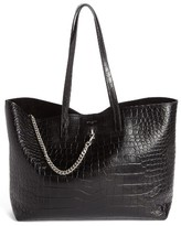 Long Strap Leather Tote Bag - ShopStyle