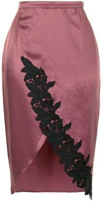 Fleur Du Mal Lily lace-trim skirt