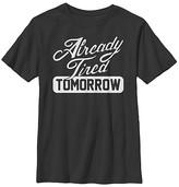 Fifth Sun Boys' Tee Shirts BLACK - Black 'Already Tired Tomorrow' Tee - Boys