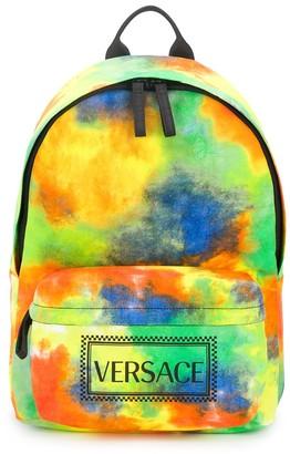 Versace Tie-Dye Logo Print Backpack