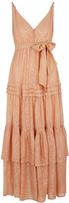 SUNDRESS Calypso Lame-weave Cotton Maxi Dress