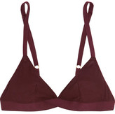 Araks Jude Ribbed Cotton-jersey Soft-cup Triangle Bra - Burgundy