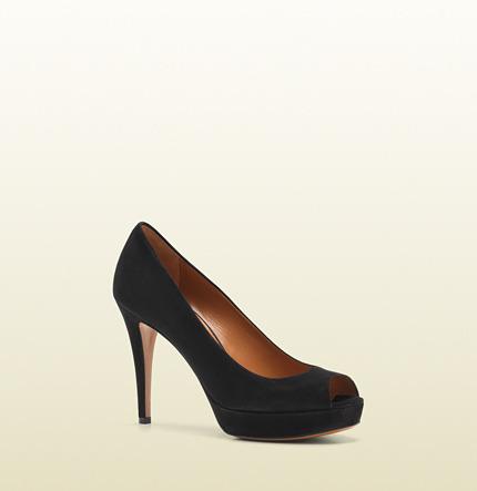 Gucci Betty Open-Toe Mid Heel Platform Pump