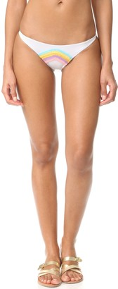 Lolli Women's Lala Skinny Side Bikini Bottom with Rainbow Embroidery XS