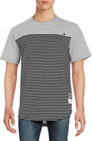Reason Colorblocked Striped Tee