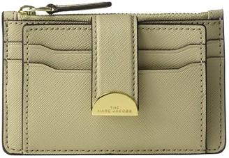Marc Jacobs Half Moon Multi Card Case (Khaki) Handbags