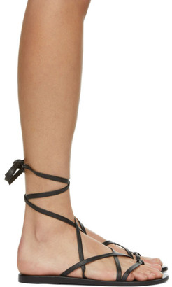 Ancient Greek Sandals Black Morfi Sandals