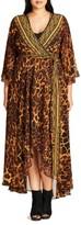 City Chic Plus Size Women's Luxe Leopard Maxi Wrap Dress