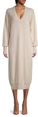 Naadam Cashmere Deep V-Neck Dress