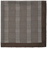 Barneys New York MEN'S CHECKED SILK POCKET SQUARE
