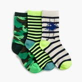 J.Crew Boys' Max the Monster socks three-pack