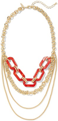 New York & Co. Goldtone Layered Statement Necklace