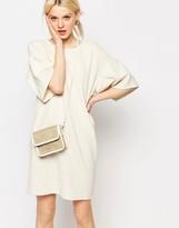 Monki Textured Drop Shoulder Dress