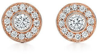 Tiffany & Co. Circlet earrings in 18ct rose gold with diamonds, mini