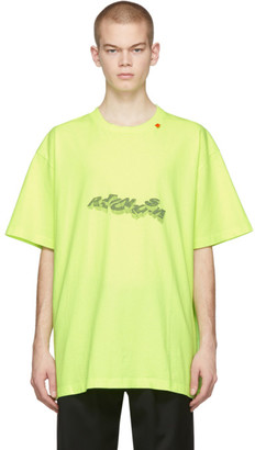 Off-White Yellow 3D Pencil T-Shirt